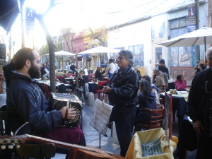 With Argentinian Street Musician